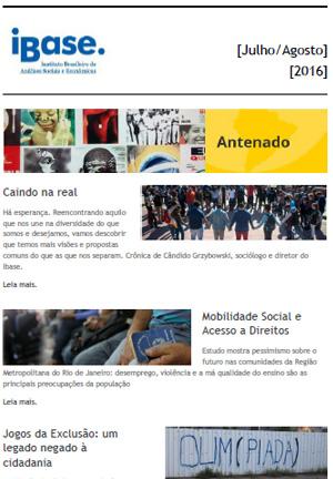 Boletim Antenado - Julho/Agosto de 2016